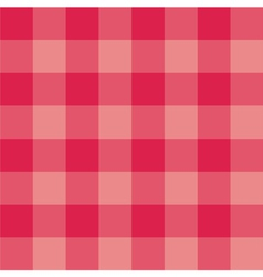 Seamless sweet red pink plaid background vector image