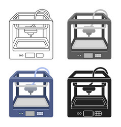 3d printer in cartoon style isolated on white vector image