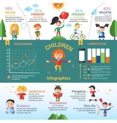 Children - flat design characters website banner vector image
