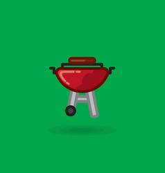 Icon of meat is fried on barbecue for vector