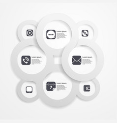 Paper circle infographic web template vector image vector image