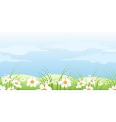 summer meadow pattern vector image