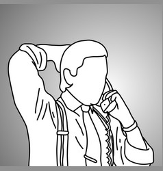 businessman put the hand on his head back vector image vector image