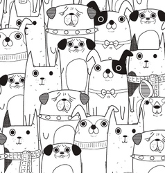 Dogs mix pattern vector
