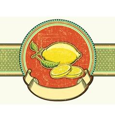 Fresh lemons vintage fruits on old background vector image vector image