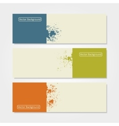 Grunge banner template vector image vector image