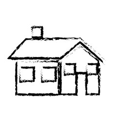sketch house home real state architecture vector image