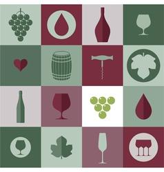 Wine Icon set vector image