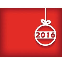 2016 Christmas ball card vector
