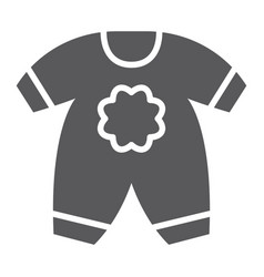 baby clothes glyph icon kid and clothing vector image