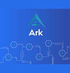 Background of ark cryptocurrency virtual payment vector