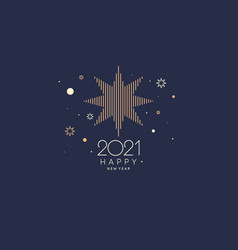 background with inscription happy new year vector image