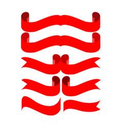 banner red set vector image