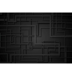 Black geometric tech corporate background vector