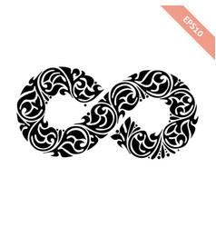 Black ornate infinity symbol vector
