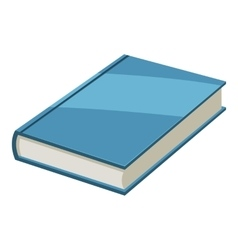 Book icon cartoon style vector image