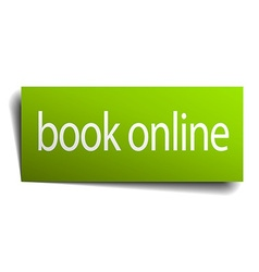 book online green paper sign on white background vector image