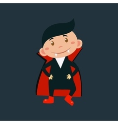 Boy In Dracula Haloween Disguise vector