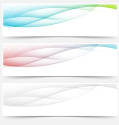 Bright web headers footers wave swoosh vector image