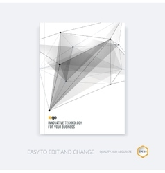 Brochure template cover design annual report vector