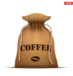 Burlap sack with coffee vector