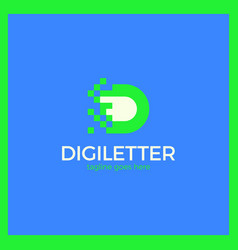 business corporate letter d logo vector image