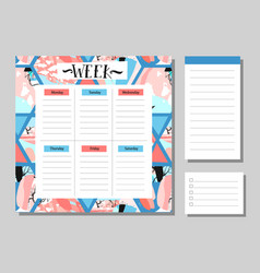 Calendar 2017 and monthly planner creative vector