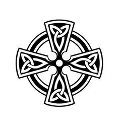Celtic cross symbol on white background vector
