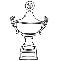 Champions trophy cup vector image