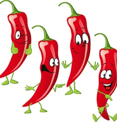 Chili pepper cartoon isolated on white background vector