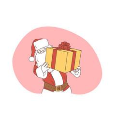 christmas present santa celebration new year vector image