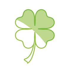 Clover lucky leaf vector