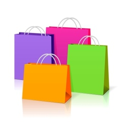 color paper bags vector image