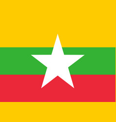 Colored flag of myanmar vector