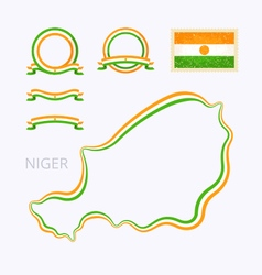 Colors of Niger vector image