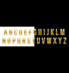 creative of golden glossy font vector image