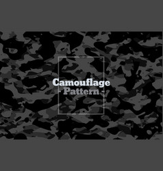 dark gray and black camouflage pattern texture vector image