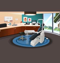 dentist office scene vector image