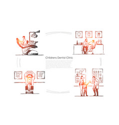 dentistry teeth checkup patient in chair doctor vector image
