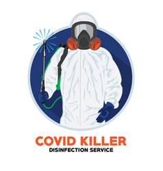 Disinfection service logo design vector