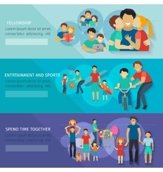 Fatherhood Banner Set vector