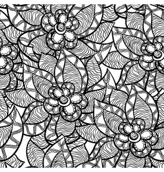 Floral seamless pattern with abstract hand drawn vector