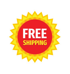 free shipping - concept promotion badge design vector image