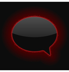 Glowing Speech Bubble vector image