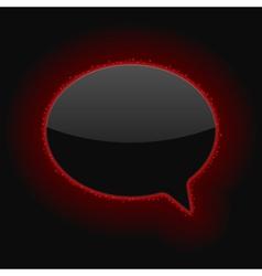 Glowing Speech Bubble vector