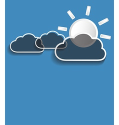 grey clouds with sun vector image