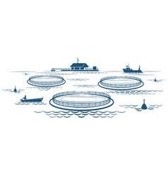 Growing fish industry vector