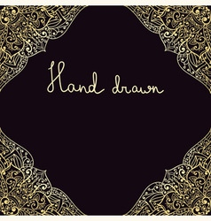 Hand drawn highly detailed frame vector