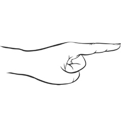 hand with forefinger vector image