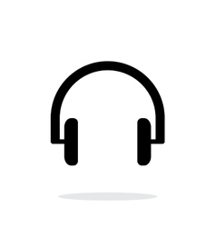 Headphones icon on white background vector image